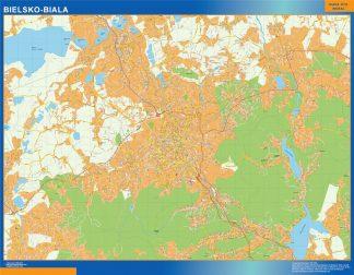 Bielsko Biala Mapa Polska Mapy Scienne