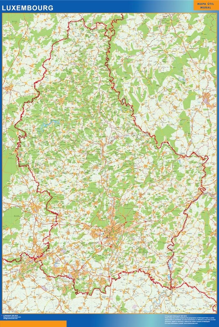 Luksemburg Mapy Scienne Laminowane Mapy Swiata Na Swiecie