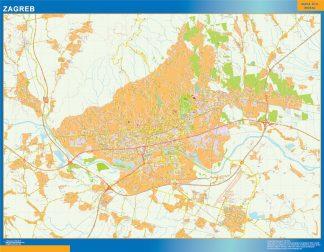 Zagreb Mapa Scienna Laminowane Mapy Swiata Na Swiecie